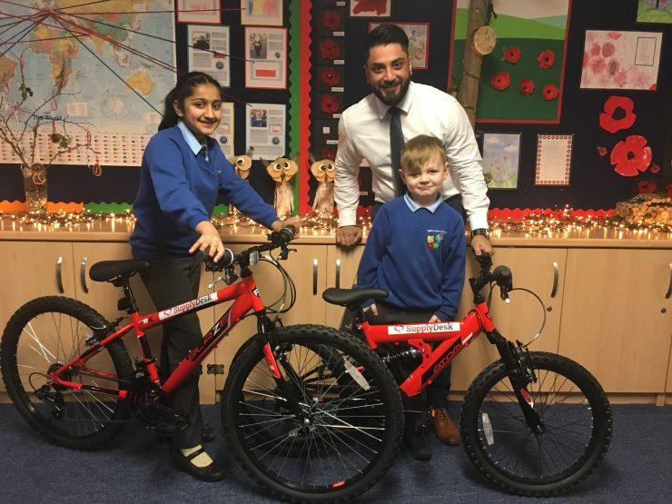 Supply Desk donates new bikes to Bradford School